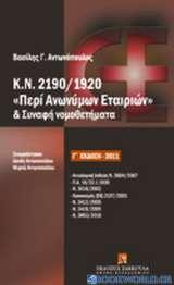 Κ.Ν. 2190/1920 Περί Ανωνύμων Εταιριών και συναφή νομοθετήματα