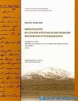 Présentation du centre d' études d' Asie mineure: Recherches d' ethnographie