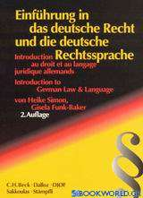 Einführung in das deutsche Recht und die deutsche Rechtssprache