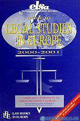 Guide to Legal Studies in Europe 2000-2001